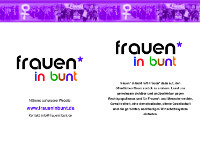 Frauen in bunt Flyer